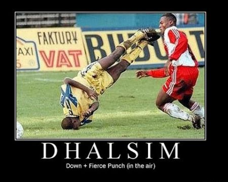 Dhalsim football streetfighter funny