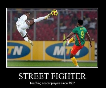 Streetfighter teaching football demotivational