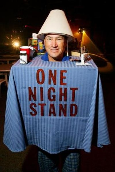Funny Halloween costume one night stand