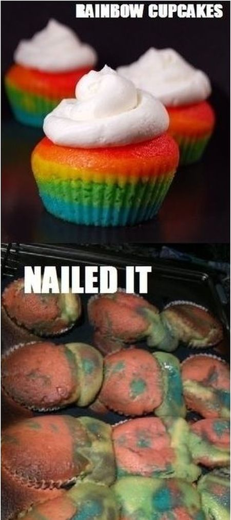 Nailed it – rainbow cakes