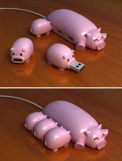 office chums pig USB hub