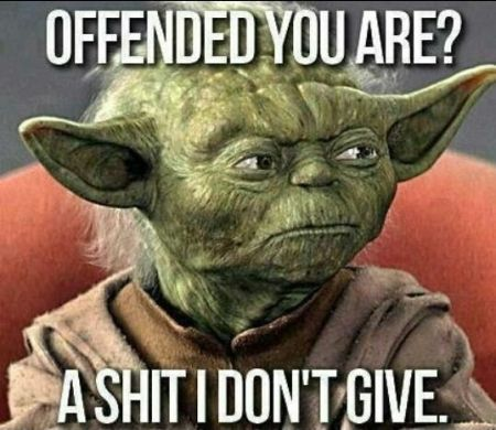 offended you are yoda