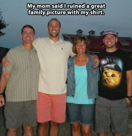 my mom said I ruined a great family picture