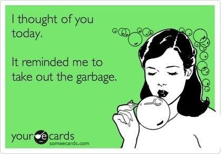I thought of you today ecard