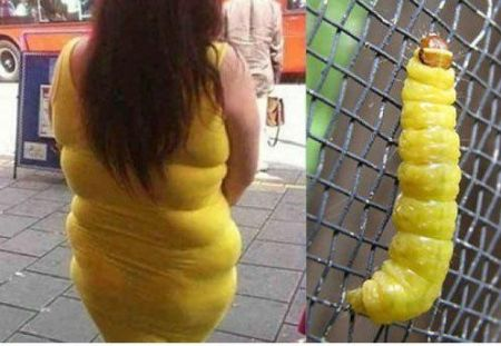 Nailed it – yellow grub woman