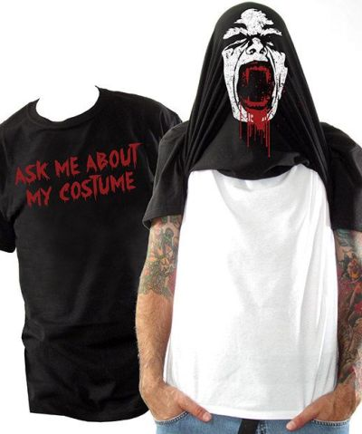 Funny Halloween costume ask about me tshirt
