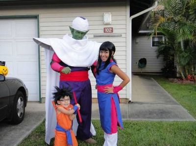 Funny Halloween costume dragon ball family