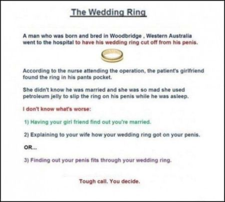 the wedding ring funny