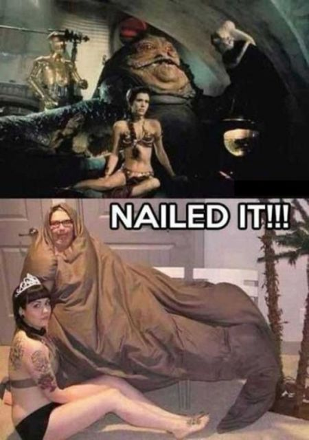 Nailed it – leia and jabba