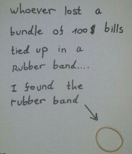 I found the rubber band funny
