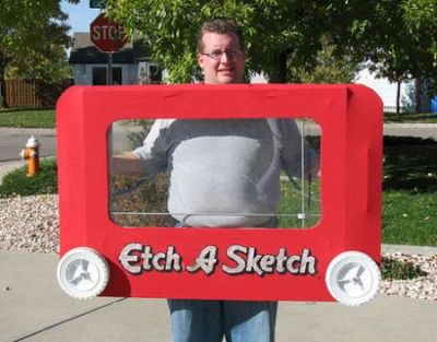 Funny Halloween costume etch a sketch