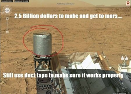 Nasa uses duct tape to make sure it works