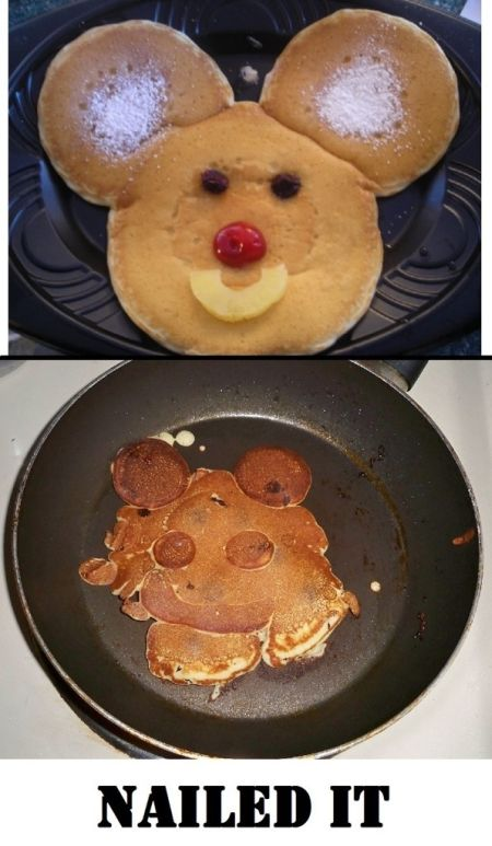 Nailed that – mouse pancake