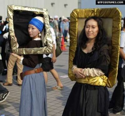 Funny Halloween costume famous paintings