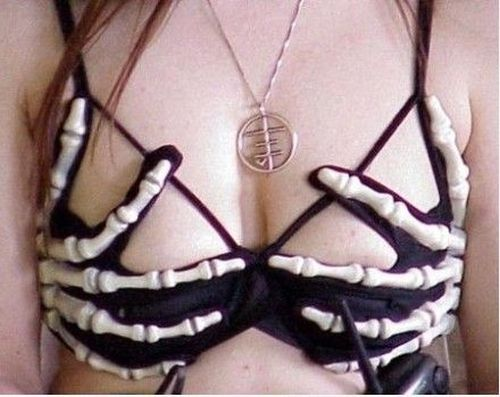 skeleton bra