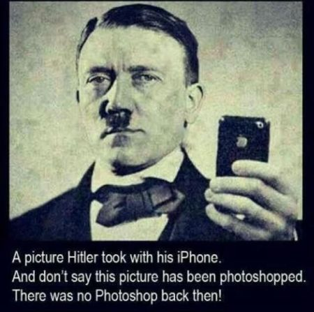 hitler and his iPhone funny