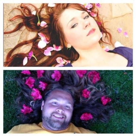 Nailed it – flowers in hair