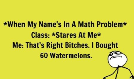 when my name is in a maths problem meme