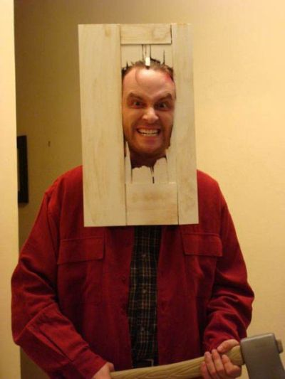 Funny Halloween costume the shinning