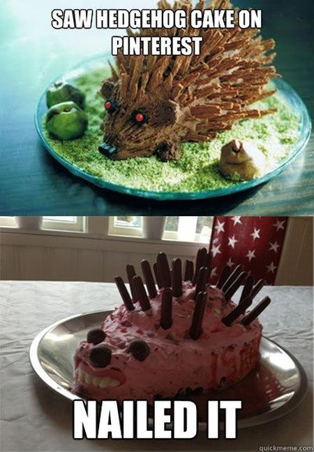 Nailed it – hedgehog cake