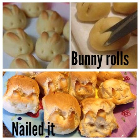 Nailed that – bunny rolls