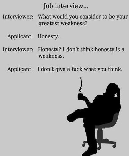 job interview honesty