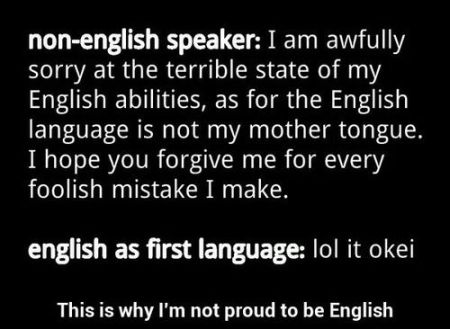 not proud to be English funny quote