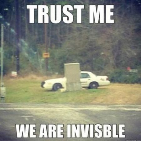 trust me we are invisible police funny