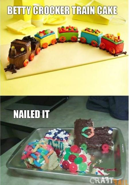 Nailed that – Betty Crocker train cake