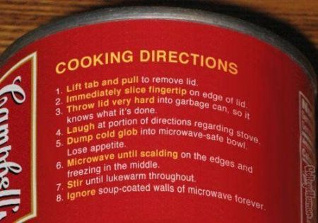 funny cooking directions