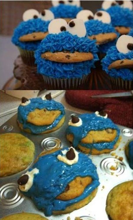 Nailed it – cookie monster cakes