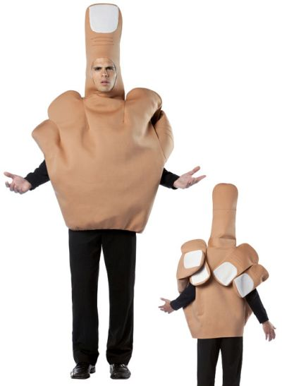 Funny Halloween costume the finger