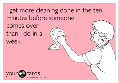 I get more cleaning done in 10 minutes ecard