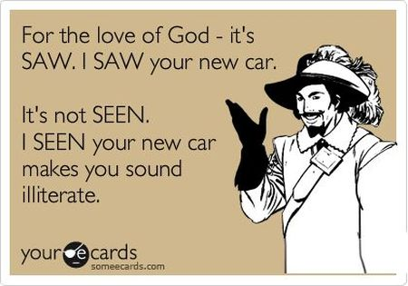 it's saw and not seen ecard