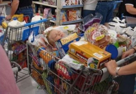 parenting fail baby in trolley