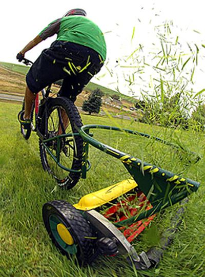 eco bicycle mower