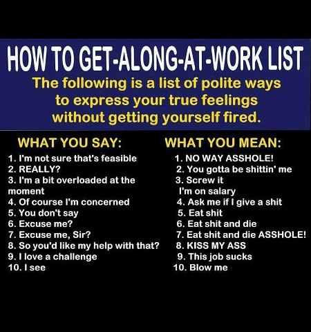 how to get along at work list