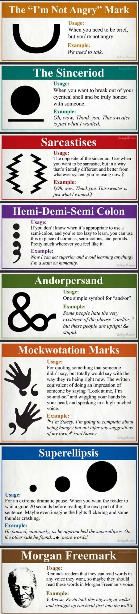 new funny punctuation marks