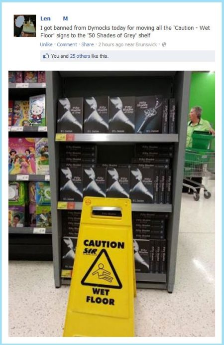 50 shades of grey wet floor warning