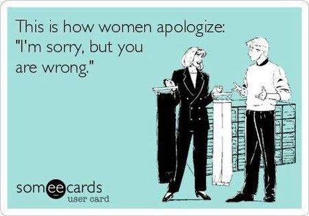 this is how women apologize ecard