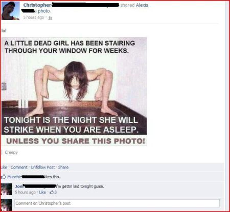 I'm getting laid tonight facebook comment