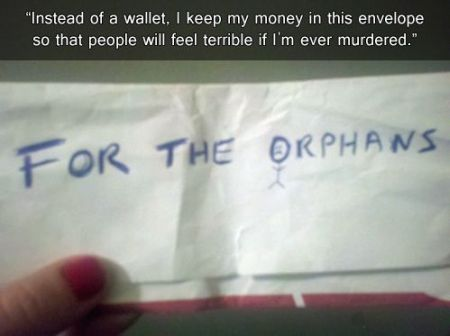 for the orphans envelope
