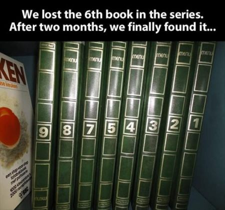 we lost the 6th book funny