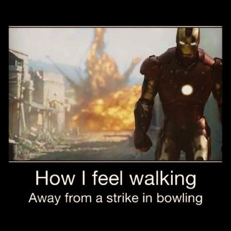 How I feel walking away from a strike in bowling