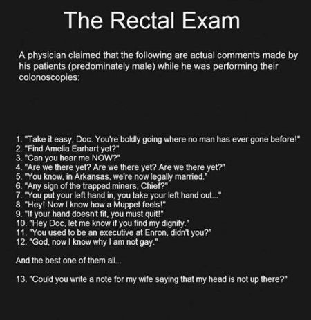 the rectal exam funny
