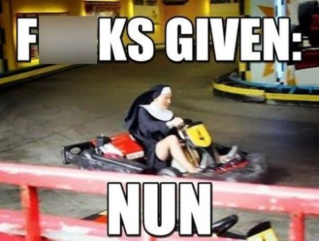 karting nun meme