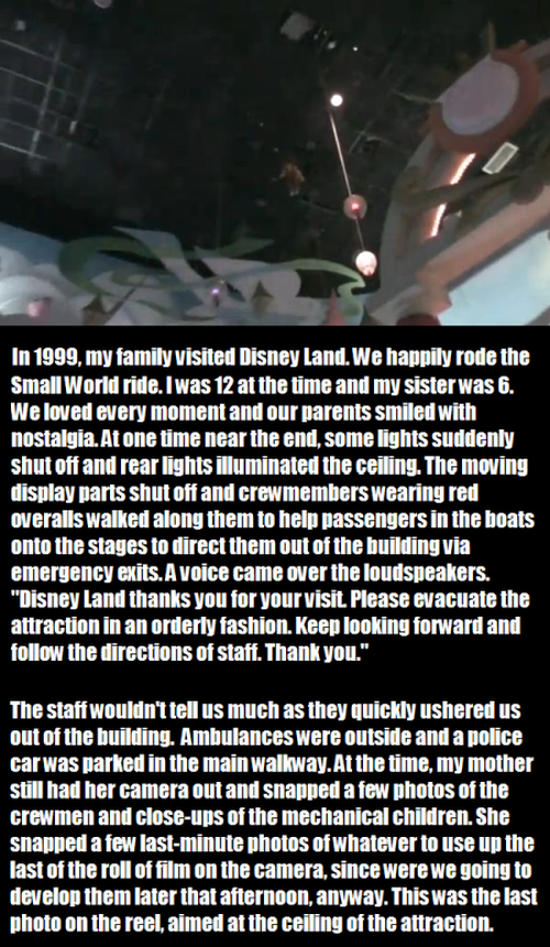 creepy Disney land story