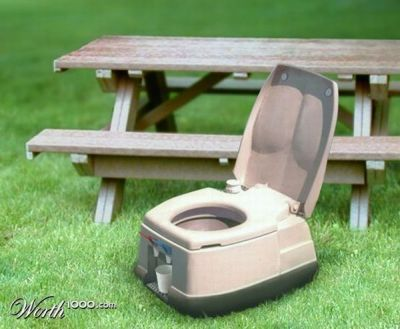portable toilet water dispenser