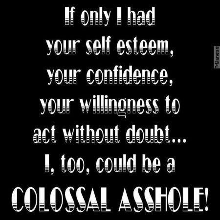 I too could be a colossal a**hole