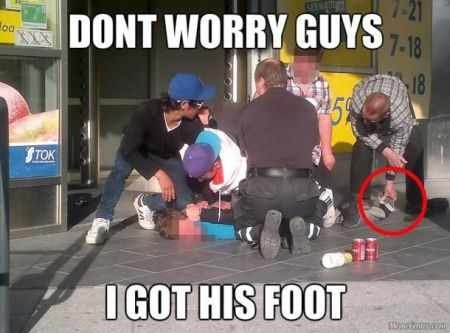 don't worry guys I got his foot